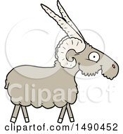 Animal Clipart Cartoon Goat by lineartestpilot