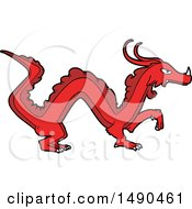Animal Clipart Cartoon Dragon by lineartestpilot