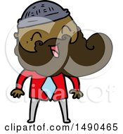 People Clipart Happy Bearded Man by lineartestpilot