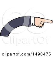 Clipart Cartoon Business Arm Pointing by lineartestpilot