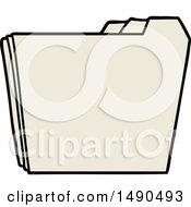 Clipart Cartoon Business Folders by lineartestpilot