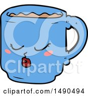 Clipart Cartoon Coffee Mug by lineartestpilot