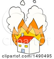 Clipart Cartoon Burning House