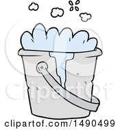 Clipart Cartoon Bucket Of Soapy Water by lineartestpilot
