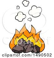 Clipart Cartoon Hot Coals by lineartestpilot