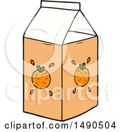 Clipart Cartoon Orange Juice Carton by lineartestpilot