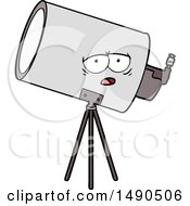 Poster, Art Print Of Cartoon Bored Telescope With Face