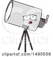 Clipart Cartoon Bored Telescope With Face