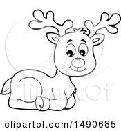 Black And White Christmas Reindeer