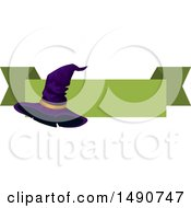 Clipart Of A Witch Hat With A Blank Banner Royalty Free Vector Illustration by Vector Tradition SM