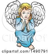 Clipart Of A Cherub Royalty Free Vector Illustration