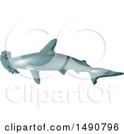 Clipart Of A Scalloped Hammerhead Shark Royalty Free Vector Illustration by dero