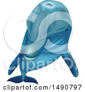 Clipart Of A Bottlenose Dolphin Royalty Free Vector Illustration