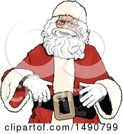 Clipart Of Santa Claus Royalty Free Vector Illustration by dero