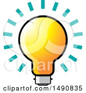 Clipart Of A Bright Light Bulb Royalty Free Vector Illustration by Lal Perera