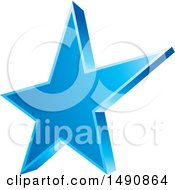Clipart Of A Blue Star Royalty Free Vector Illustration by Lal Perera