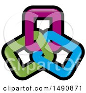 Design Of Purple Blue And Green Links