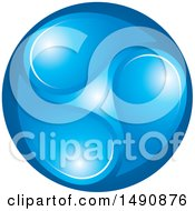 Clipart Of A Design Of Blue Droplets Royalty Free Vector Illustration