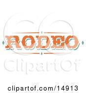 Western Orange Rodeo Sign