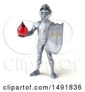 Clipart Of A 3d Armored Knight On A White Background Royalty Free Illustration