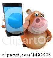 3d Brown Cow Character On A White Background