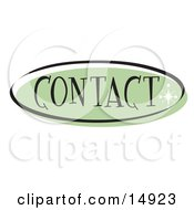 Green Contact Website Button That Could Link To A Customer Service Information Page On A Site Clipart Illustration by Andy Nortnik