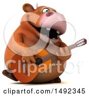 Clipart Of A 3d Brown Cow Character On A White Background Royalty Free Illustration