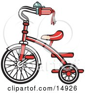 Poster, Art Print Of New Trike Bike With A Bell On The Handlebars