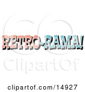 Vintage Pink And Blue Retro Rama Sign Clipart Illustration by Andy Nortnik