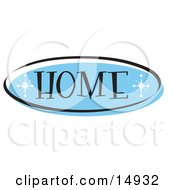 Blue Home Website Button That Could Link To The Home Page On A Site Clipart Illustration