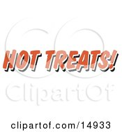 Red Hot Treats Restaurant Sign Clipart Illustration by Andy Nortnik