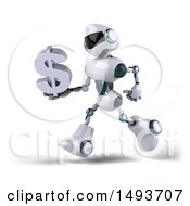 Poster, Art Print Of 3d Robot On A White Background