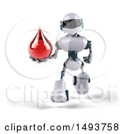 Clipart Of A 3d Robot On A White Background Royalty Free Illustration