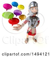 3d Young Male Roman Legionary Soldier On A White Background