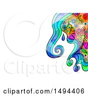 Clipart Of A Doodle Watercolor Design On A White Background Royalty Free Illustration by Prawny