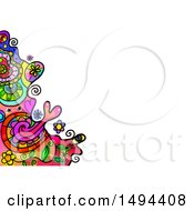 Clipart Of A Doodle Watercolor Design On A White Background Royalty Free Illustration