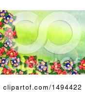 Poster, Art Print Of Watercolor Flower Background