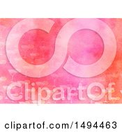 Clipart Of A Pink Watercolor Painted Background Royalty Free Illustration by Prawny