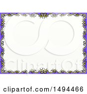 Clipart Of A Doodled Border Of Swirls On A White Background Royalty Free Illustration