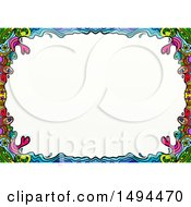 Clipart Of A Doodled Border On A White Background Royalty Free Illustration by Prawny