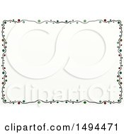 Clipart Of A Doodled Border Of Circles On A White Background Royalty Free Illustration