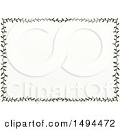 Clipart Of A Doodled Border Of Leaves On A White Background Royalty Free Illustration