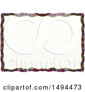 Clipart Of A Doodled Border On A White Background Royalty Free Illustration