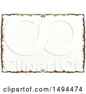 Clipart Of A Doodled Border With Swirls On A White Background Royalty Free Illustration