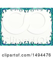 Clipart Of A Doodled Border Of Waves On A White Background Royalty Free Illustration