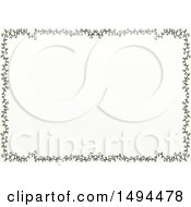 Clipart Of A Doodled Border Of Leafy Vines On A White Background Royalty Free Illustration