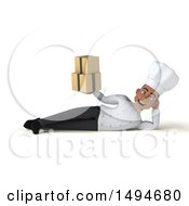 Clipart Of A 3d Young Black Male Chef On A White Background Royalty Free Illustration
