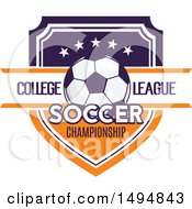 Soccer Ball And Shield Design With Text