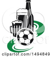 Soccer Ball And Beer Design