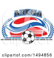 Soccer Ball And Arena Text Design